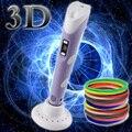 DIY 1.75mm ABS/PLA 3D Pluma Impresión LED/LCD 3D Pluma Pluma de La Pintura + Filamento + Adaptador Juguetes creativos Regalo Para El Cabrito Niño Diseño Dibujo
