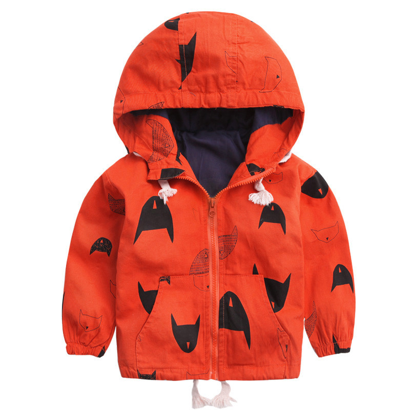 18M-6T Fashion Spring Autumn Boys Hooded Jackets Cartoon Monster & Penguin Print Outwear Good Quality Blouson Garcon CMB349 (4)