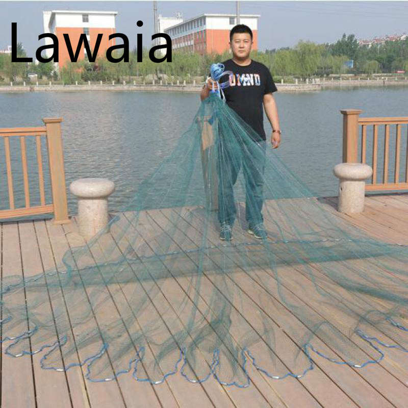 Lawaia kalapüügi võrk monofilamentvõrguks Kalapüük kalapüügiks Valatud võrgud 6m nailon 3m kalapüük ameerika stiilis valatud võrk või ripatsid