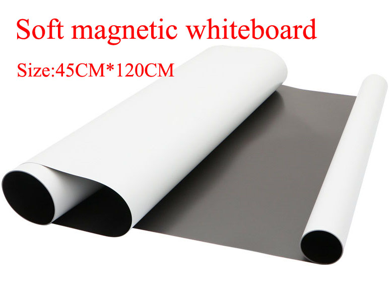 Flexible Soft Magnetic Whiteboard Fridge Magnets For Kids Home Office Dry-erase Board White Boards Size 45CMx120CM