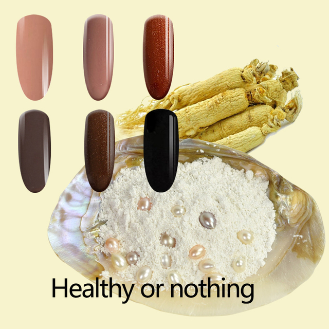 TREEINSIDE natural pure Healthy brand-genseng extracted new nail gel polish need uv led lamp to cure green safe healthy brand