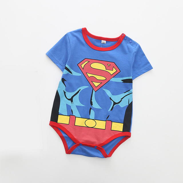 8a70025bc 2018 Newborn Baby Clothes Cotton Short Sleeve Superman Baby Rompers ...