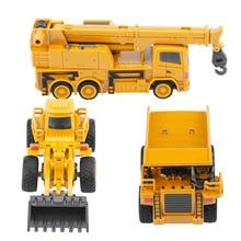 Новая игрушка RC Truck с дистанционным управлением Самосвал Для детей кран бульдозер экскаватор на дистанционном управлении электрическая Строительная игрушка