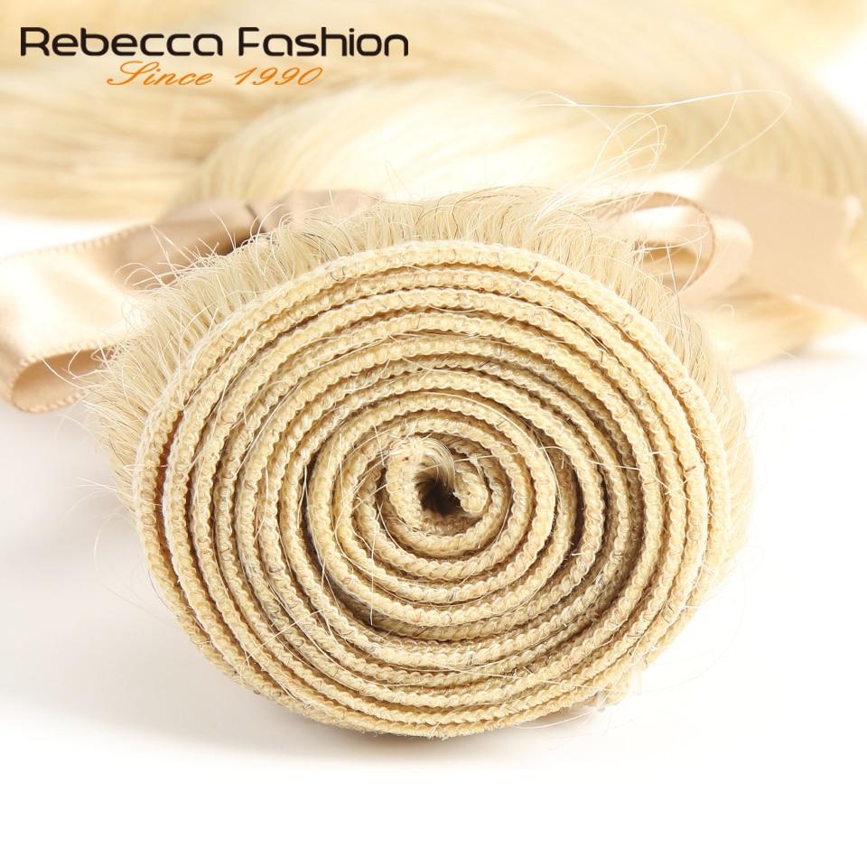Image 5 - Rebecca 613 Honey Blonde Bundles Body Wave Brazilian Hair Weave Bundles 100% Remy Hair Extensions 1/3/4 Bundles 10 to 26 Inches-in Hair Weaves from Hair Extensions & Wigs