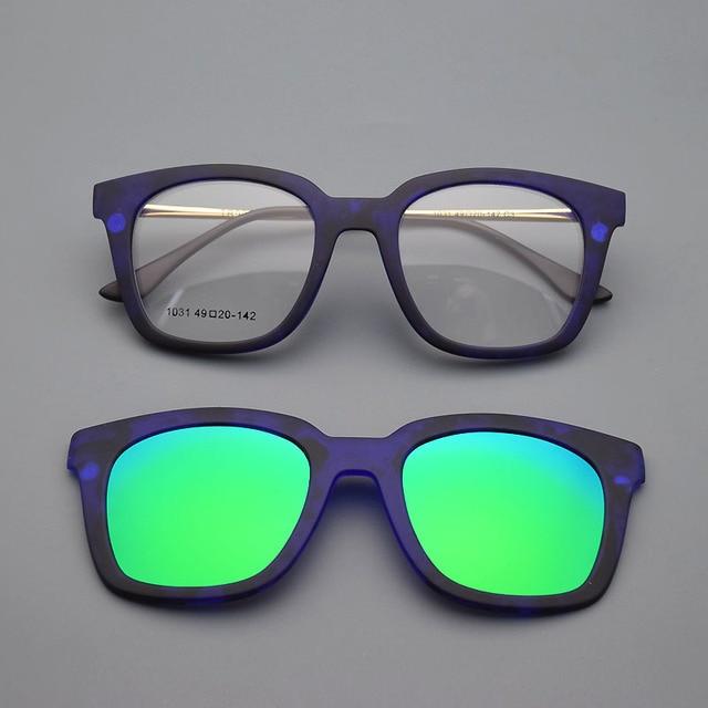 cdf7d601e7 Gafas de marco completo marco de anteojos marco imán cinturón clip de gafas  de sol de