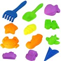12Pieces/Set Colored Sand Tools Moulds Baby Space Sand Mold Children Super Toy Model Kids Sand Clay DIY Educational Toys