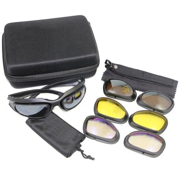 83b7b6f0f482d1 C5 Tactique Militaire Lunettes Chasse Tir Lunettes Extérieur 100% UV  Camping Randonnée lunettes de Soleil