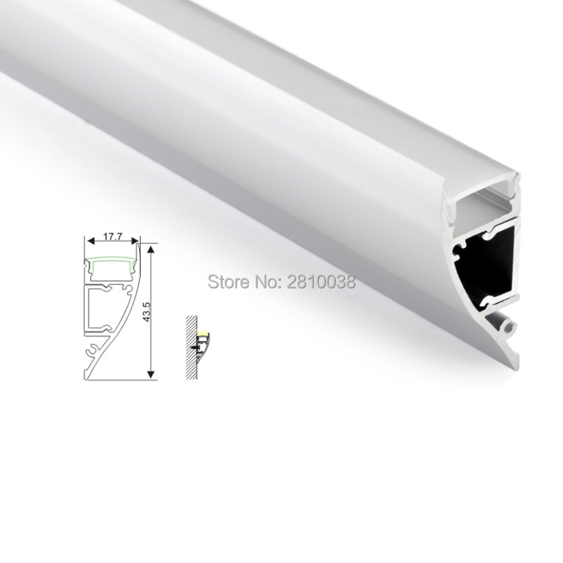10 X2 M SetsLot wall washer led strip aluminium profile and Arc type led wall channel for wall up or down lamps