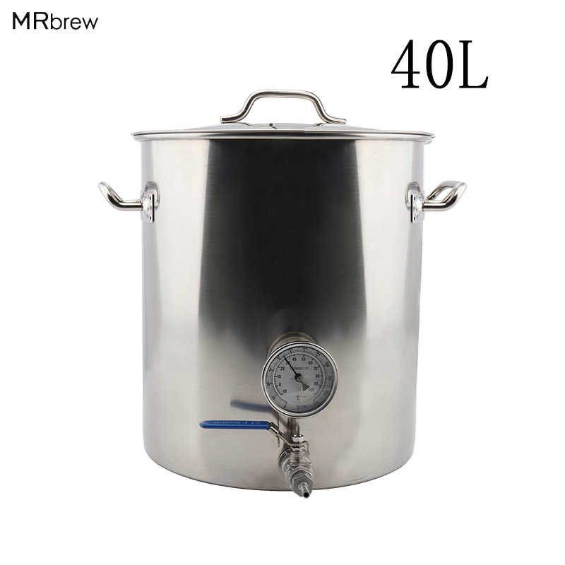 Stainless Steel 40L Beer Kettle Home Brewing Pot with