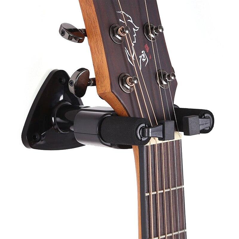 1 set electric guitar wall hanger holder stand rack hook mount for all size guitars universal. Black Bedroom Furniture Sets. Home Design Ideas