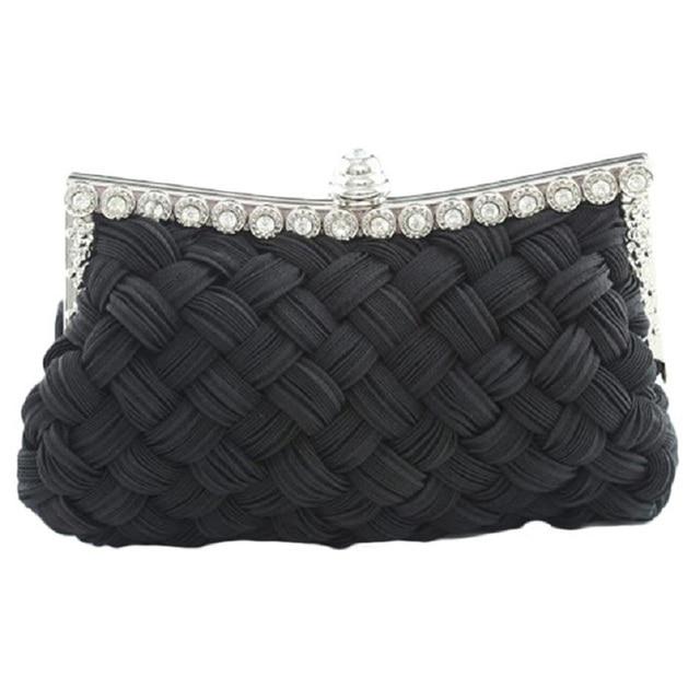 Naivety New Luxury Women Satin Evening Party Handbag Socialite Casual Clutch Bag JUL1 drop shipping