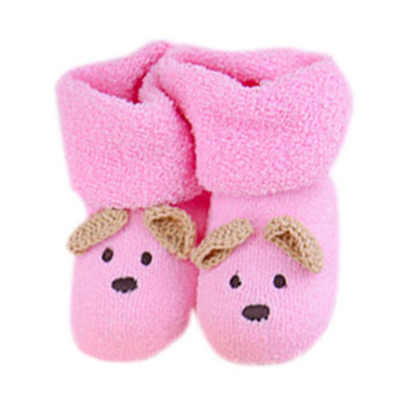 Unisex Boy Girls Infant Cute Bear Crib Warm Shoes Toddler Sapatos Newborn Toddler Infant Baby Socks