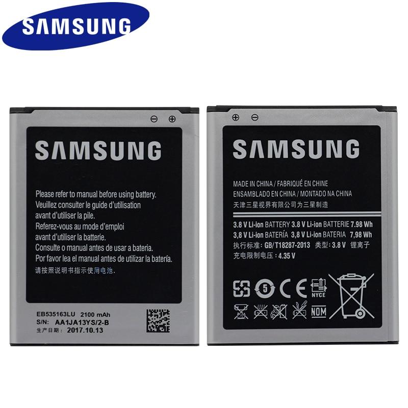 SAMSUNG EB535163LU For Samsung I9082 Galaxy Grand DUOS I9080 I879 I9118 Neo+ i9168 i9060 2100mAh Replacement Phone Battery