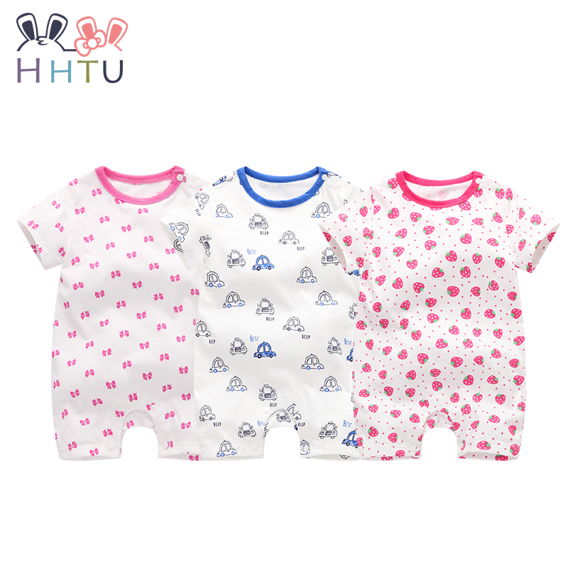 HHTU Cotton Baby Rompers Baby Clothing Boy Girl Romper Cute Jumpsuit Short Cloth for Newborn Infant Product Set Spring Summer cotton i must go print newborn infant baby boys clothes summer short sleeve rompers jumpsuit baby romper clothing outfits set