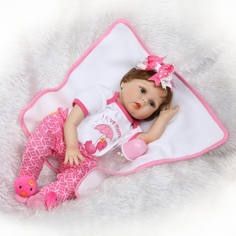 Pursue 22/55 cm bebe reborn Silicone Baby Dolls Toys for Children Girls House Playmate Baby Alive Soft Toys Best Gift for Girls