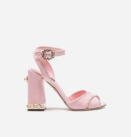 Moraima Snc Pink Suede Thick Heels Woman Sandals Summer Crystal Embellished Ankle Strap Wedding Shoes Cutouts Gladiator Sandal Moraima Snc Pink Suede Thick Heels Woman Sandals Summer Crystal Embellished Ankle Strap Wedding Shoes Cutouts Gladiator Sandal