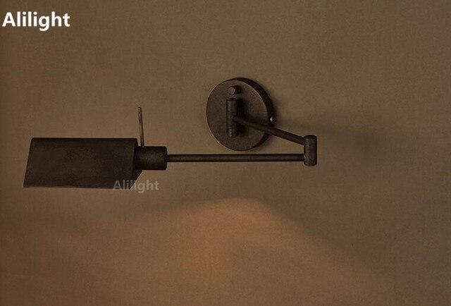American Industrial Wandleuchten Für Wohnzimmer Schlafzimmer Neben  Wandleuchten Loft Vintage Eisen Bar Folding Wandlampen Innenbeleuchtung