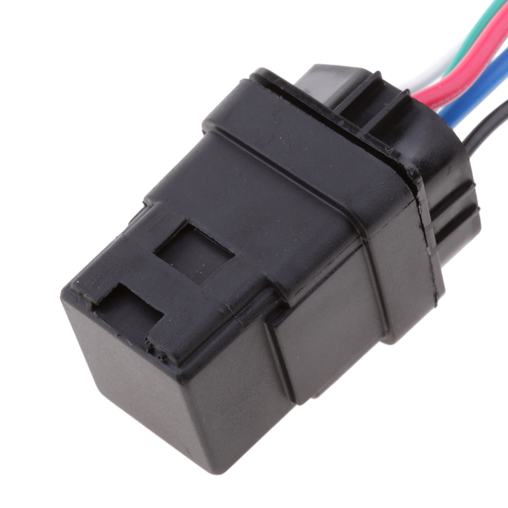 Waterproof Integrated Automobile 12V 40A 4PIN Auto Car Relay & Socket Holder 12v rtt7121a 40a 4pin small electromagnetic relay 4 pin car diy general electric relays