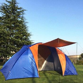 Наружная кемпинговая большая двухслойная палатка, водонепроницаемая, 2 спальни, 5, 8 человек, дорожная палатка, семейные вечерние, рыболовные...