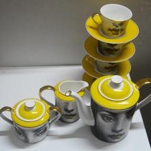 Moda diseño Milian Fornasetti cafetera Olla Olla la Leche olla de selección Individual Diy combinación Libre divertida casa de té olla