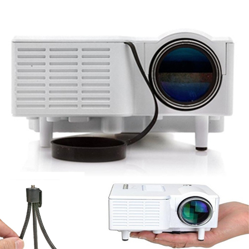 White U28e 60'' mini LED projector Native 320*240 AV LCD Digital Projector VGA A/V USB & SD