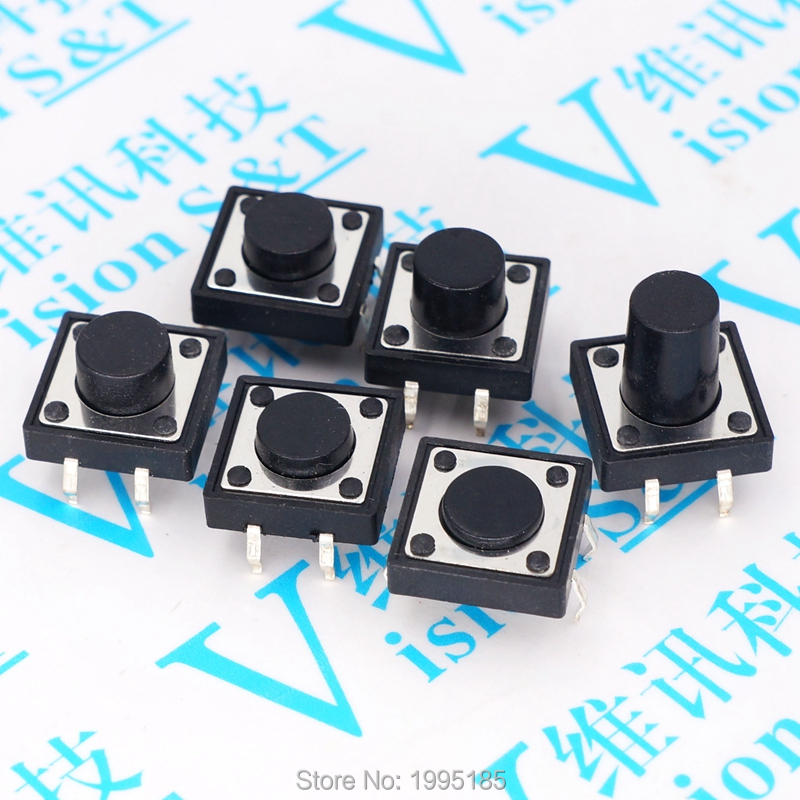 Active Components Aspiring 200pcs Button Touch Switch 6*6*5 Keys Button Dip 4pin 6*6*5mm Light Touch Switch Dip4 /off Touch 6x6x5 High Quality