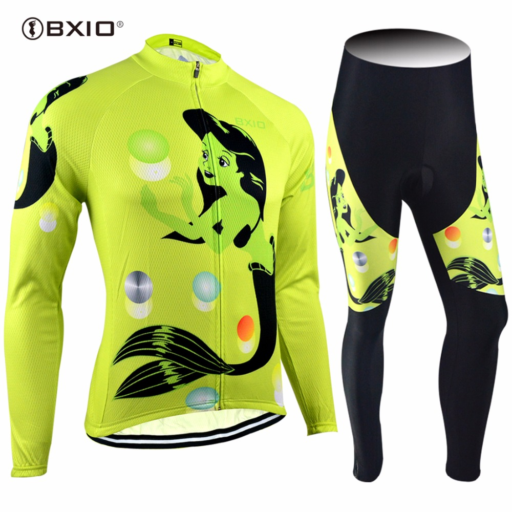 New Arrival Bxio Cycling Jersey Long Sleeve Women Mountain Bike Clothes Bike Kit Mujer Ropa Ciclismo