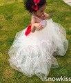 Пользовательские красивый белый/кот цветочница платье для свадьбы день рождения длинные симпатичные кристаллы узелок малышей случай мяч платья
