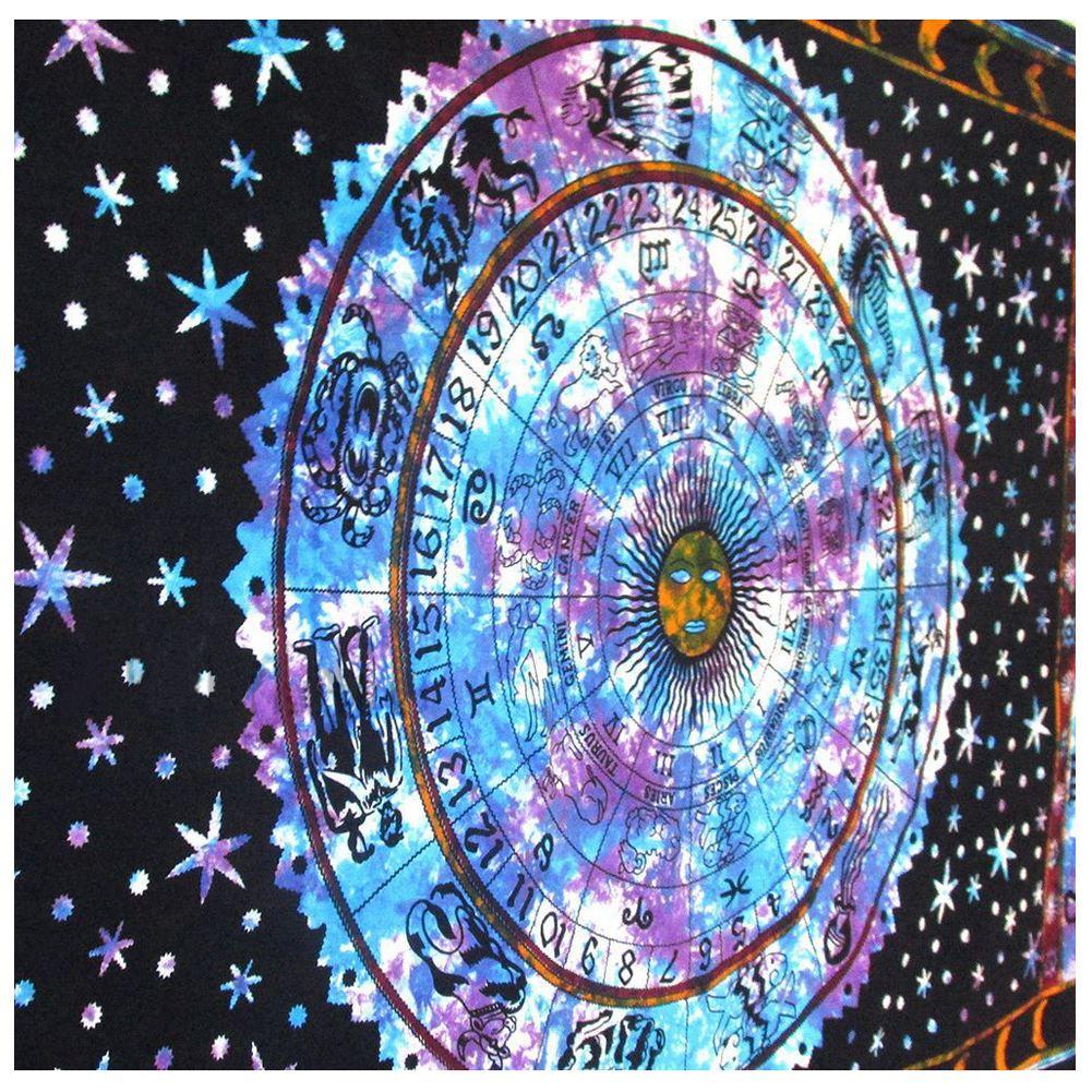 Astrology <font><b>Indian</b></font> Mandala <font><b>Tapestries</b></font> Wall Hanging Hippie Bedspread Beach Throw Towel Blanket <font><b>Bohemian</b></font> Tablecloth Room Dorm Deco