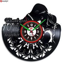 Valentine's Couple Art Vinyl Wall Clock Creative Gifts Modern Home Romantic Wedding Decoration Vintage Duvar Saati