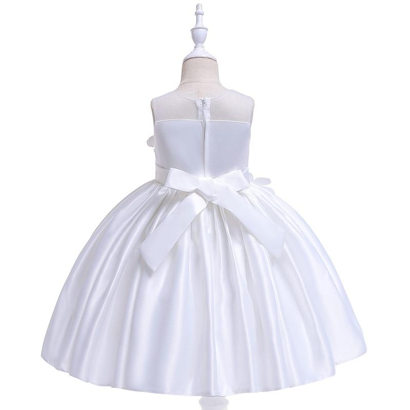 Elegant Rose Fower Girls Dress Kids Princess Birthday Applique Prom Designs Ball Gown Fashion Children Dresses For Girl Clothes (6)