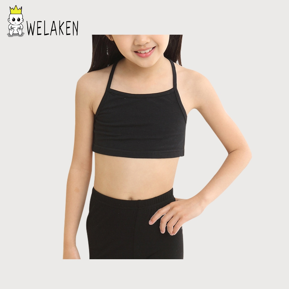 Casual Young Girls Training Bras Camisoles Solid Children's Clothing Sling Breathable Baby Tank Tops Soft Baby Girls Underwear