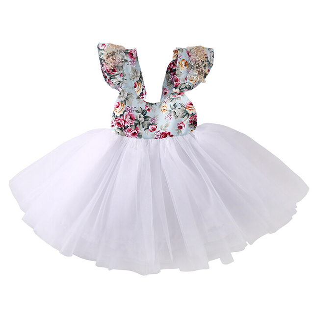 07cab801ad69 Cute Baby Girls Dress Party Ball Gown Formal Flower Cute Girl ...