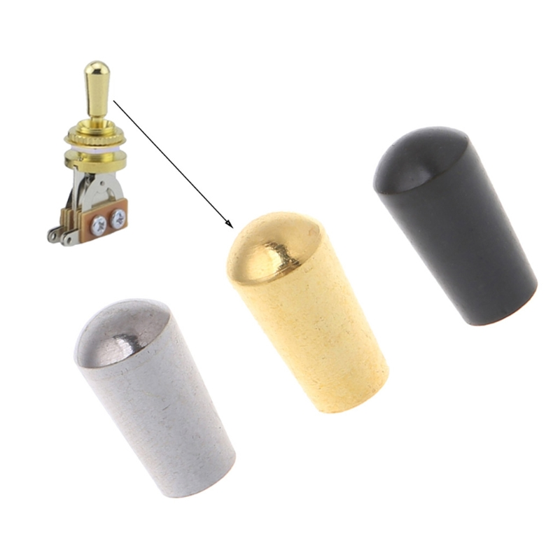 Internal Thread 3.5mm Brass Electric Guitar Toggle Switches Knobs Tip Cap Button