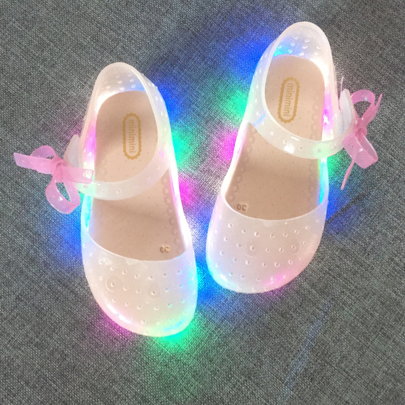 2017-new-LED-light-flashing-bow-buttress-cool-slippers-fish-head-mouth-head-jelly-girl-fragrant-princess-sandals-3