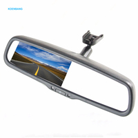 4 3 Inch Car Parking Rearview Mirror Monitor Reverse Rear Camera 1000cd M2 OEM Bracket Replacement