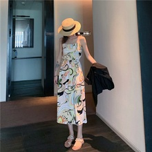 Women Maxi Dress Sleeveless Long Dress Beach Slim Sling V-neck Women Dresses Sundress Female Summer summer deep v neck high waist maternity maxi dresses sleeveless draping long evening gown for pregnant women dinner slim dress