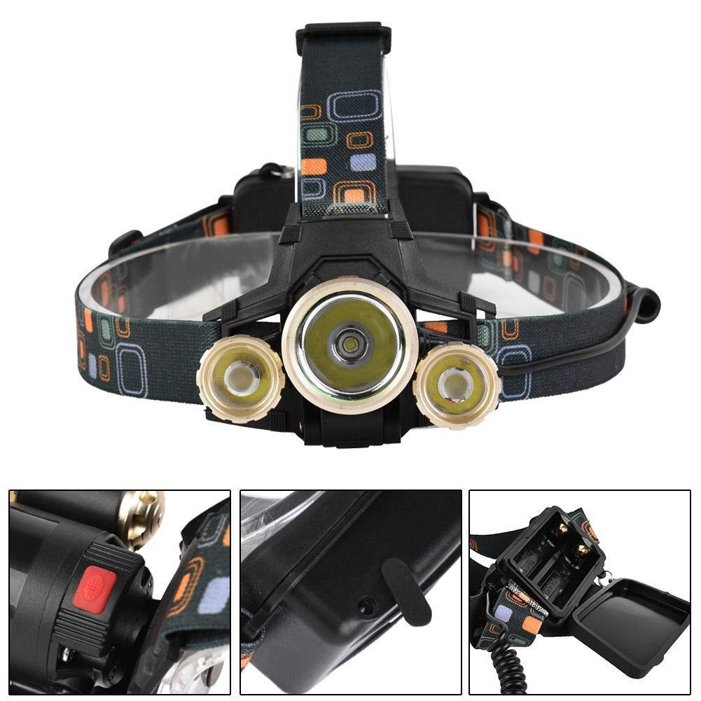 Led Spotlight Headlamp: 400Lm 3 LED Headlamp 4 Modes Rechargeable Headlight Head