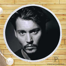 Custom DIY Customized Microfiber Fabric Johnny_Depp (1)@1 Round Beach Blanket Towel Printed on Demand 150cm #19-01-28-4-114(China)