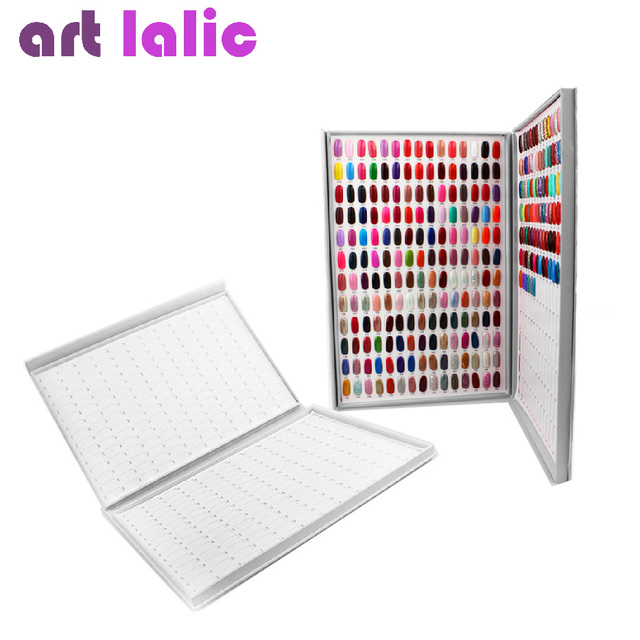 HOT SALE 308 Colours Nail stamper Gel Polish Display Book Chart Luxury Art Salon Super Large