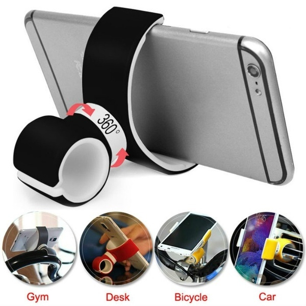 Universal 360 Degrees Rotatable Mobile Phone Holders & Stands Air Vent Mount Bicycle Car Cell Phone Holder Stands for Phone GPS