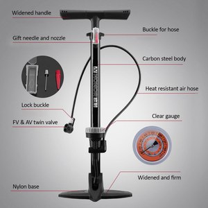 Image 3 - Lixada Bicycle Pump 160PSI MTB Road Floor Pump firm Fast Safe Inflating Valve co2 Tire Inflation Foot Pump bicycle accessories