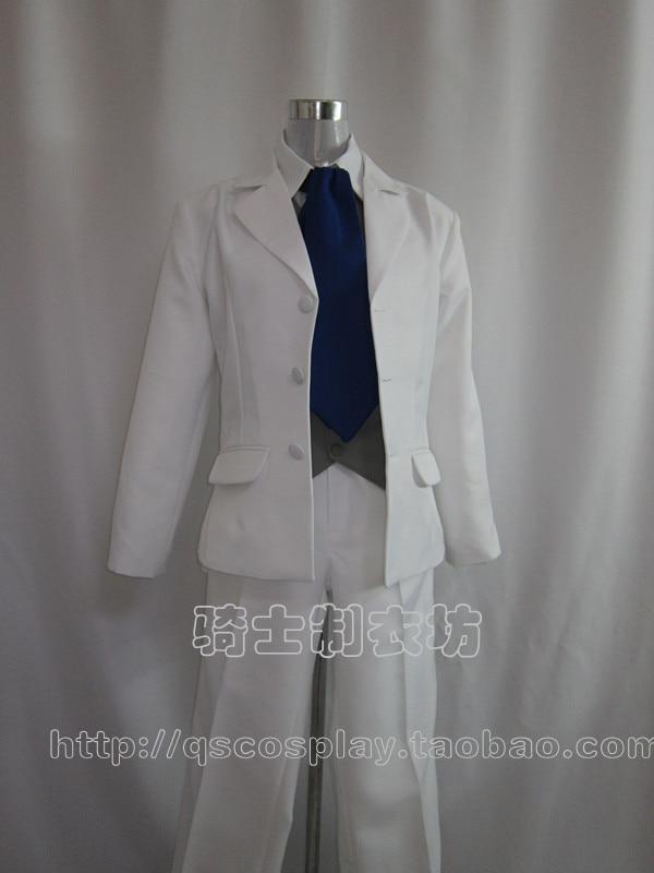 Future Diary Mirai Nikki Amano Yukiteru Cosplay Groom Costume White Custom Made Uniform