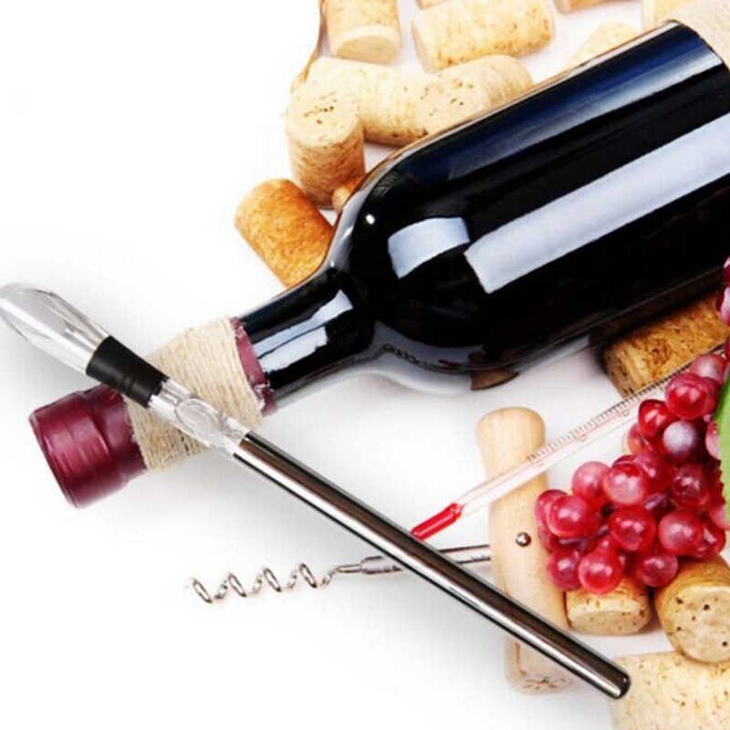 1 PC Stainless Steel Anggur Chiller Stick dengan Anggur Penuang Anggur Pendingin Tongkat Pendingin Bir Minuman Beku Stick Ice Cooler alat Bar