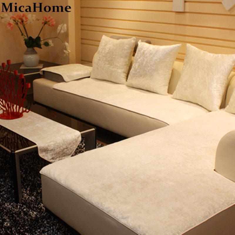 European Leather Sofa Cushion Plush Sofa Cloth Fabric