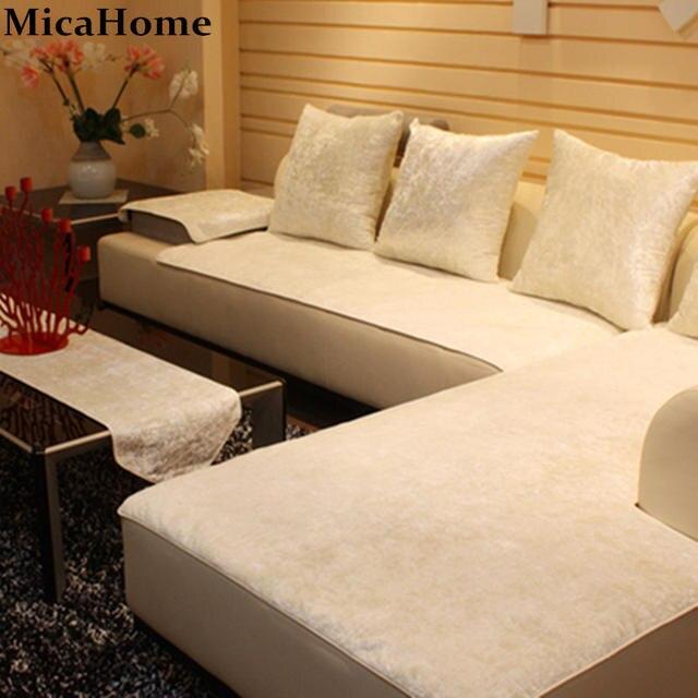 European Leather Sofa Cushion Plush Sofa Cloth Fabric Sectional Towel Set  Sofa Covers For Home Textile Corner Slipcover