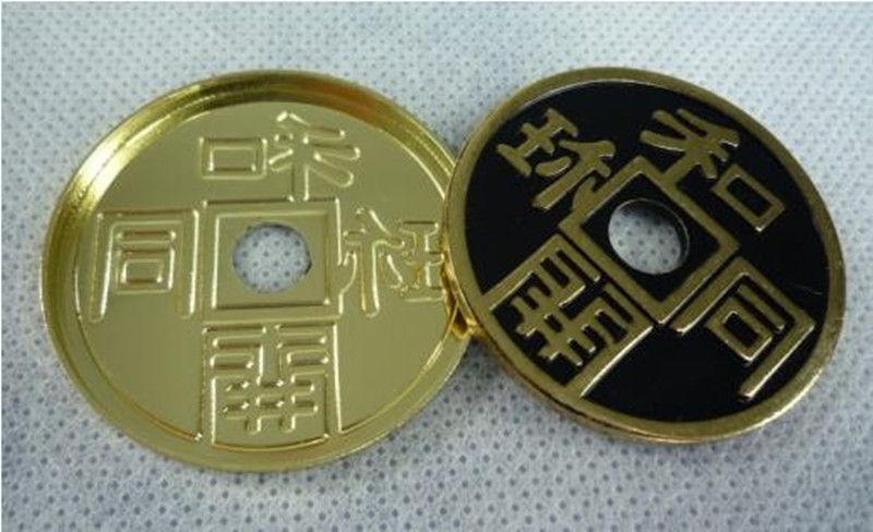 Japanese Ancient Coins Set (Dia 3.8cm) Expanded Chinese Shell W/Coin Morgan Coin Version Magic Tricks Close Up Magic Gimmick