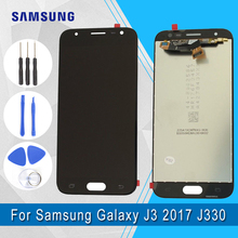 Mobile Phone LCDs For Samsung Galaxy J3 2017 J330 Touch Screen Assembly Repair Parts and LCDs Display with brightness adjust