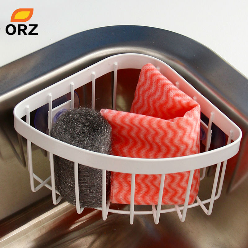 High Quality Kitchen Shelf Corner Shelves Sink Metal Rack Bathroom Shower Wall Mounted  Sucker Soap Dish Toothbrush Storage Holder Basket In Storage Holders U0026 Racks  From ...