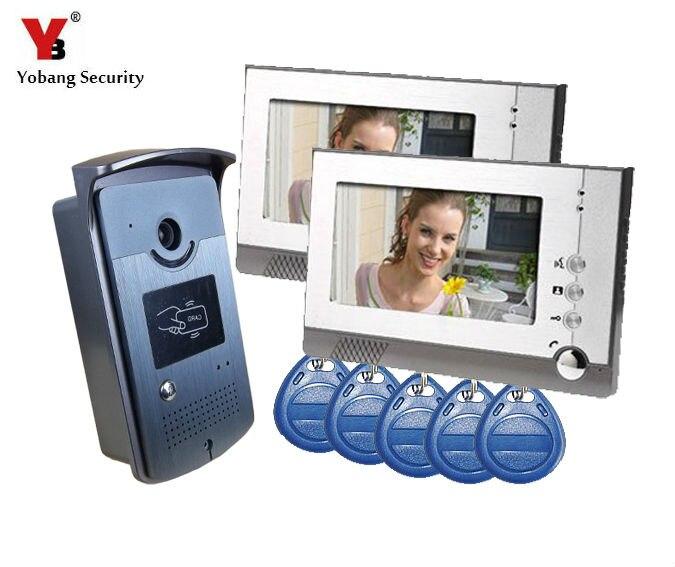 Yobang Security wideodomofon domofony interfone para casa maison wideodomofon wideo kamera na podczerwień. Domofon wizyjny